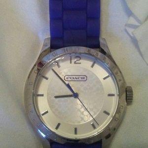 Coach Silicone Band Watch